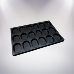 Non-stick Alusteel Tray Oval-18cup